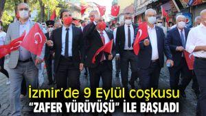 """İzmir'de 9 Eylül coşkusu """"Zafer Yürüyüşü"""" ile başladı"""