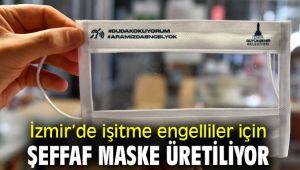 İzmir'den işitme engelliler için maske!