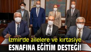 İzmir'de ailelere ve kırtasiye esnafına eğitim desteği!