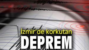İzmir'de korkutan deprem Son dakika!