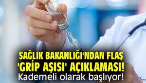 Sağlık Bakanlığı'ndan flaş 'grip aşısı' açıklaması! Kademeli olarak başlıyor!