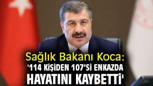 Sağlık Bakanı Koca: '114 kişiden 107'si enkazda hayatını kaybetti'