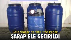 Seferihisar'da 900 litre kaçak şarap ele geçirildi