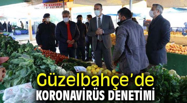 Güzelbahçe'de Koronavirüs Denetimi