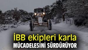 İBB ekipleri karla mücadelesini sürdürüyor