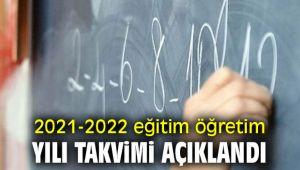 2021-2022 eğitim öğretim yılı takvimi belli oldu