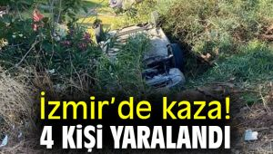 İzmir'de kaza! 4 kişi yaralandı