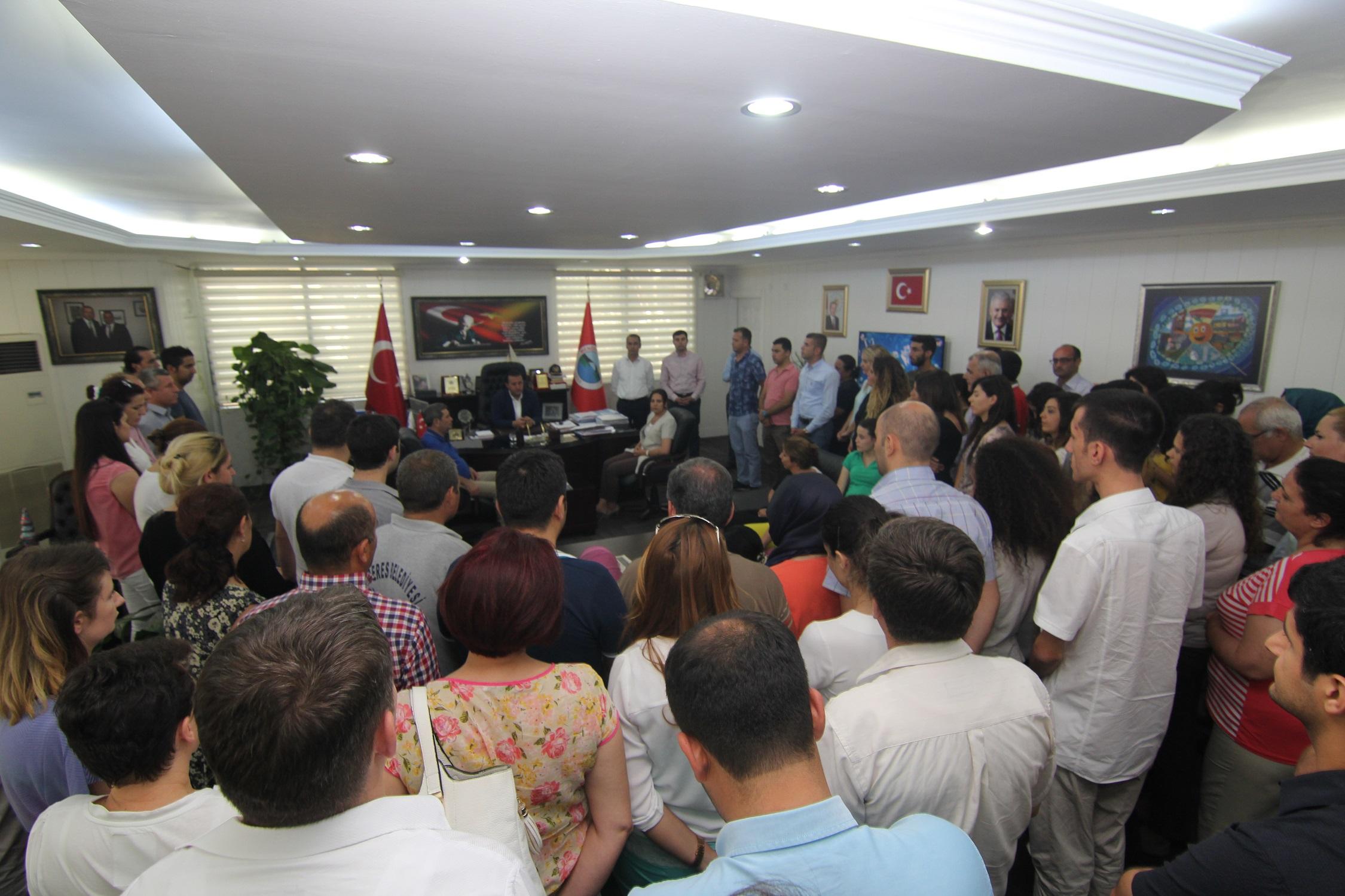 Başkan Soylu Çalışma Arkadaşlarıyla Bayramlaştı