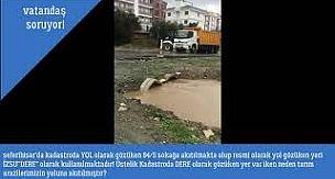 SEFERİHİSAR'DA VATANDAŞIN ARSASINDAN DERE GEÇİYOR
